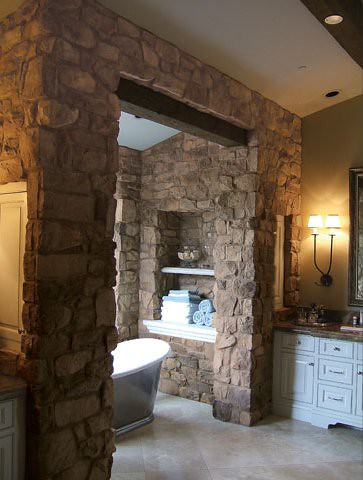 French country villa verona stone veneer flickr for French country stone fireplace