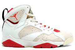 Air Jordan 7 Original Men's Basketball Shoes ( White Silver Red)1