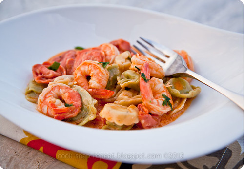 tortellini with shrimp sauce