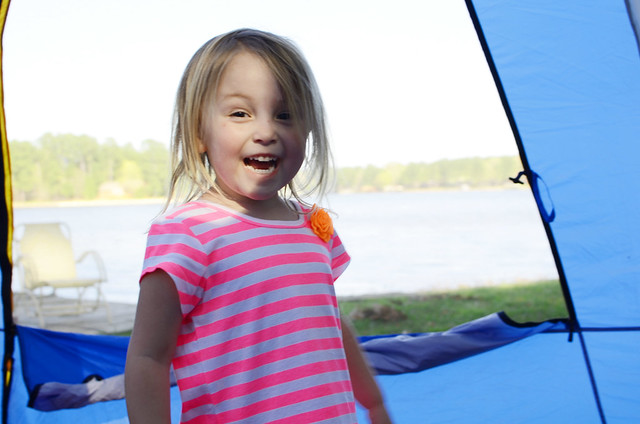 sassy in tent