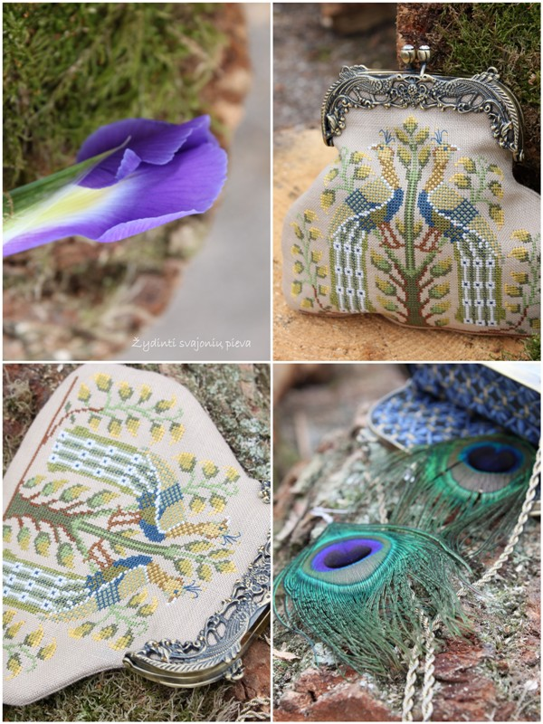 Italian Peacocks Purse