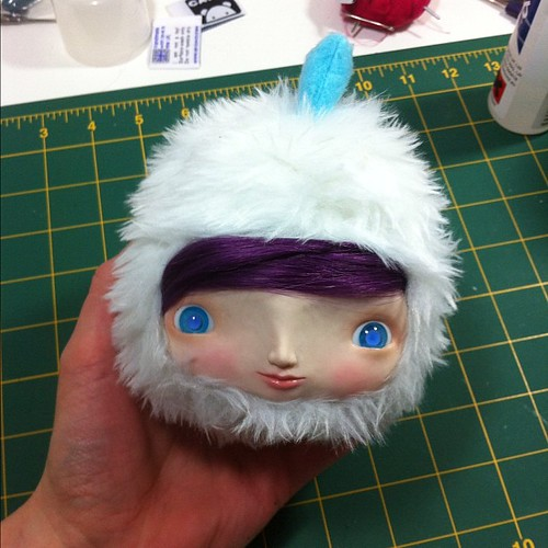 "Without her rainbow ears she looks like Billy Hatcher :) 8"" qee custom"