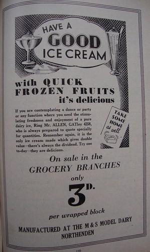 ice cream 1950
