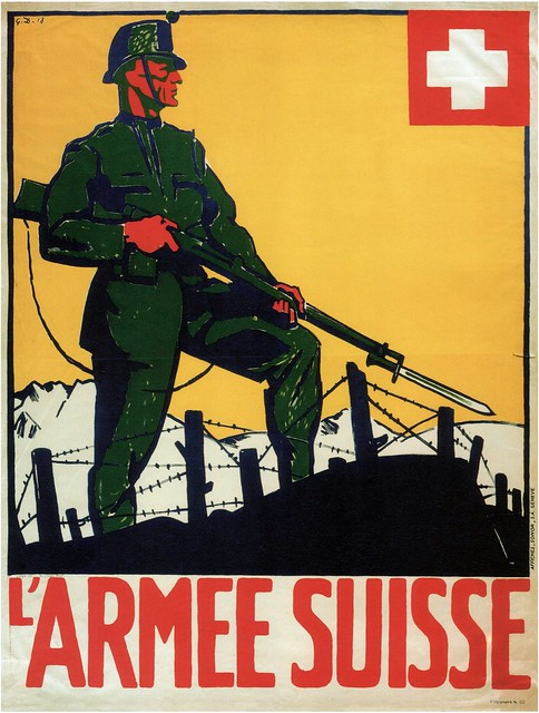 Georges Darel. Swiss Army. 1918