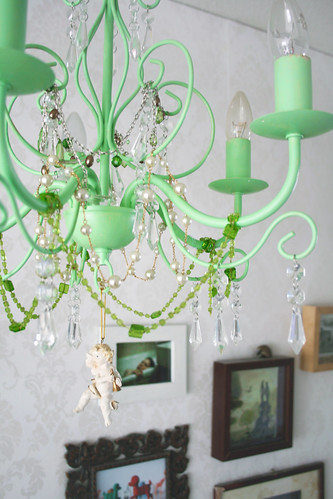 Painted and decorated chandelier