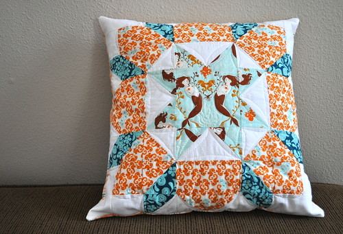 finished mermaid swoon pillow
