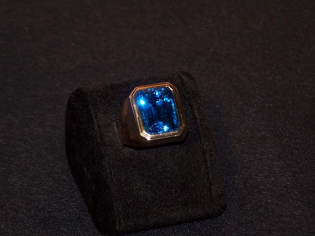 Swiss Blue Topaz Heart Promise Ring