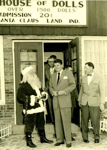 Ronald Reagan visited Santa Claus Land in 1955
