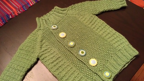 finished baby sweater!