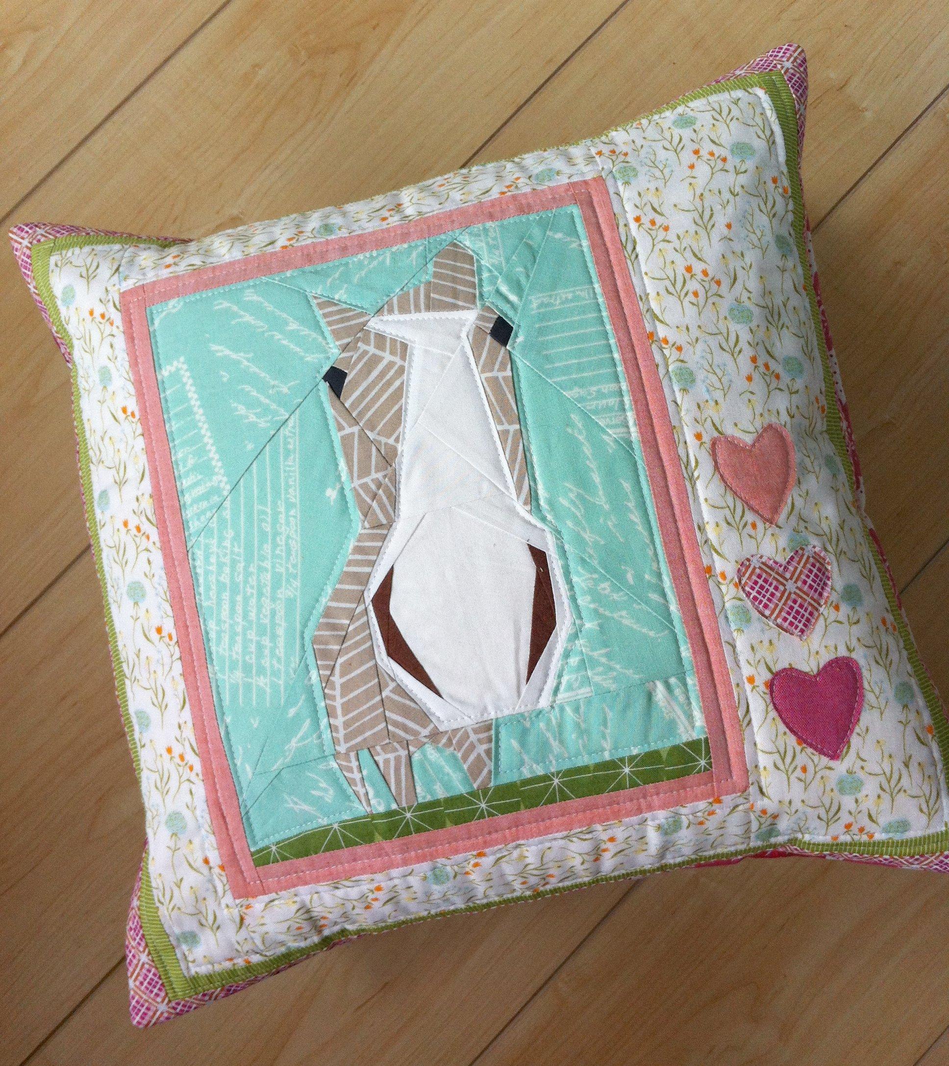 Claire's Valentine pillow