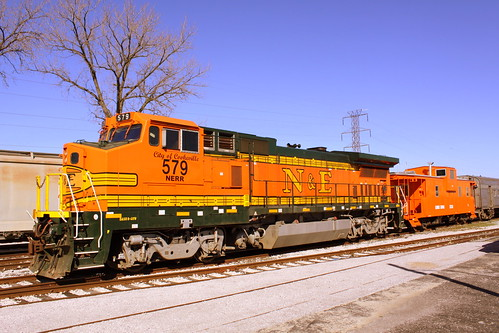 The Orange train cars at the Tennessee Central Railway Museum