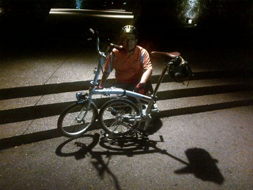 Night Rider taking a rest at Labyrinth Restoran by Adibi