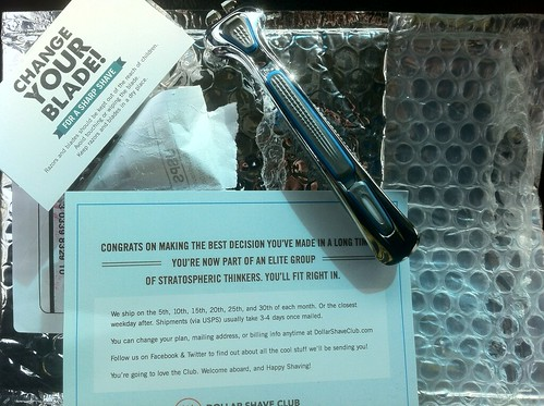 First delivery from Dollar Shave Club!