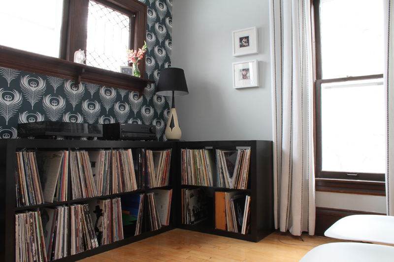 Music Room Record Shelves