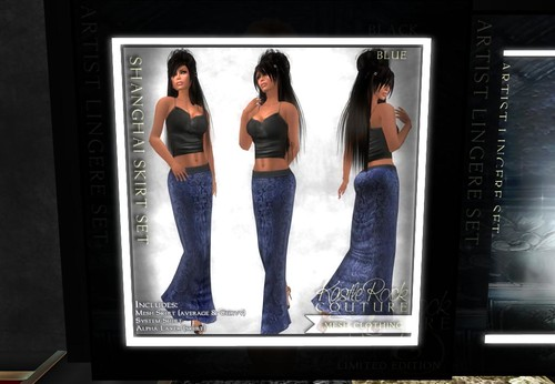 KR MESH Shanghai Skirt Set - Blue (only fo by Cherokeeh Asteria