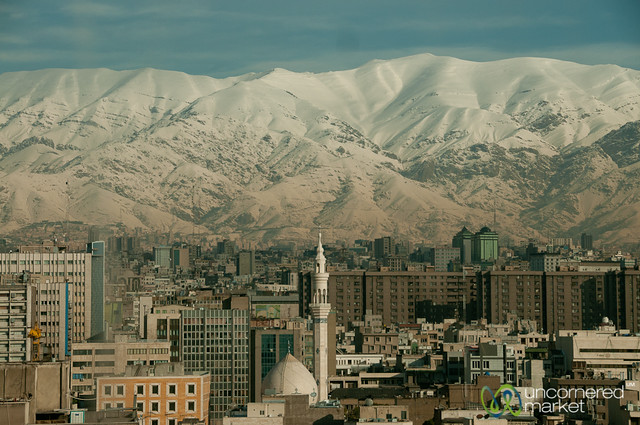 Tehran with Snow Covered Mountains - Iran