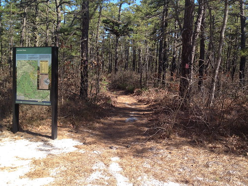 Entrance to Batona Trail Hike Lake Absegami Camp to Buttonwood Hills Camp