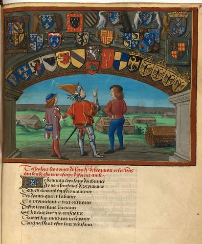 013- Corazon, Deseo y Largueza visitan el cementerio del Amor -fol 91--Le livre du Coeur d'amour épris, par le roi René d'Anjou-1460-BNF