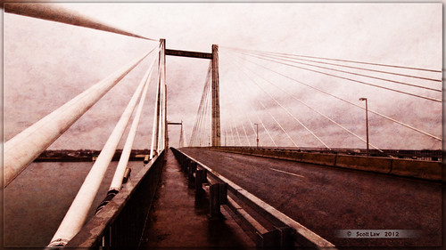 Cable Bridge Kennewick-Pasco Washington by Just Used Pixels