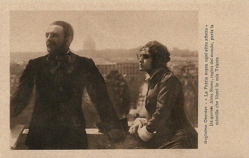 Alberto Collo and Vittorina Moneta in Guglielmo Oberdan, il martire di Trieste (1915)