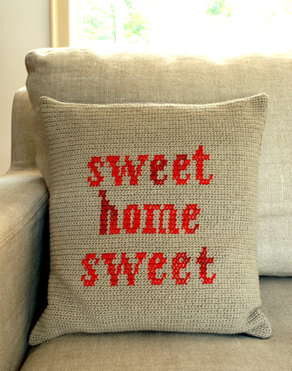sweet home sweet pillow, on The Purl Bee