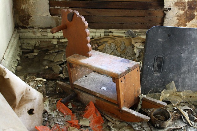 The rocking horse freezes to the floor, and is unable to perform its primary function.
