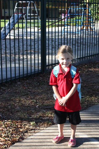 Amelia's first day of kinder