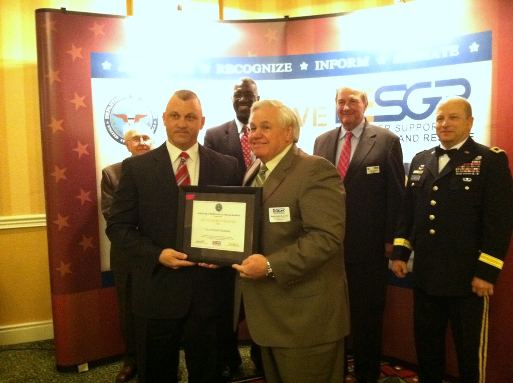 North Charleston receives Above and Beyond Award from ESGR