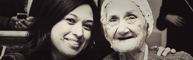 Visita a los abuelitos - Dulce