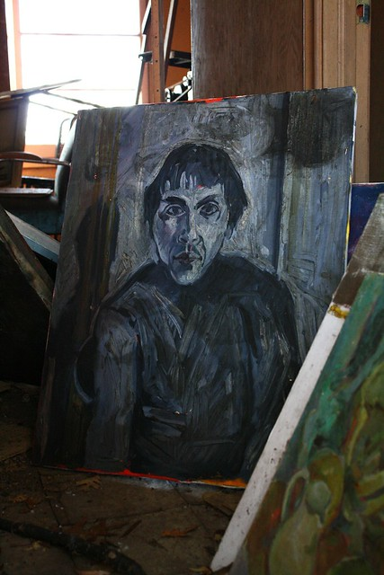 Portrait of madman