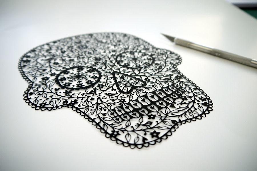 Sugar Skull papercut. © Suzy Taylor