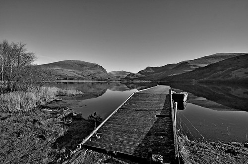 Nantlle lake and Snowdon in the distance.