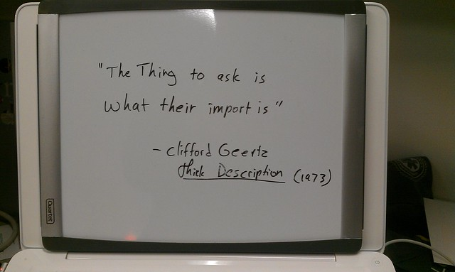 Clifford geertz essays