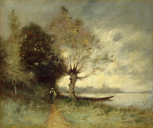 Paul Truiber - Coast Loire Near Shuze by Gandalf's Gallery
