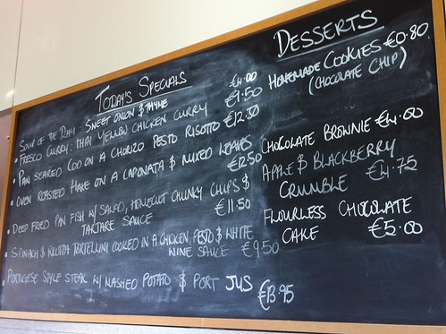Fresco Bistro Daily Specials Chalkboard Menu