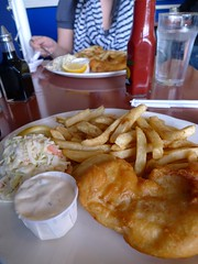 Fish and chips at Dave's in Steveston