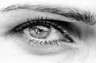 Eye reflection B&W