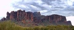 superstition mountain range Pano