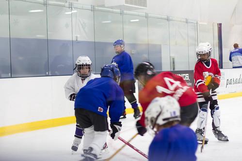 Josh hockey scrimmage