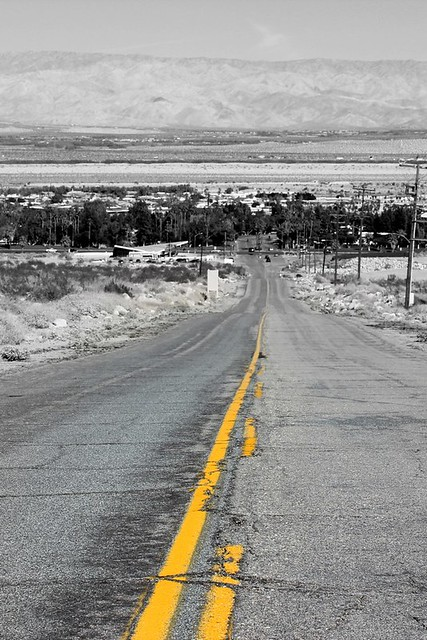 Desert Road in Palm Springs, California