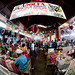 Fisheye View of Goat Soup Aisle - Tlacolula Market, Mexico