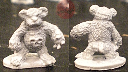 "Dark Horse Miniatures :: TEENAGE MUTANT NINJA TURTLES - ""The Terror Bears"" { 15 mm } / DOOM BEAR i  (( 1986 ))"