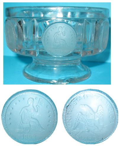 Coin glass dish