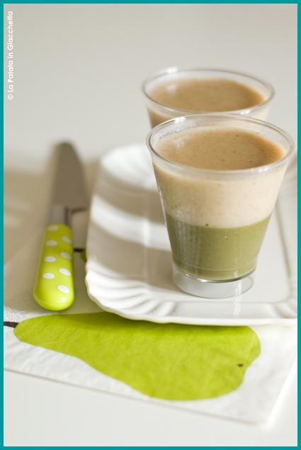Budini vegan al tè matcha e vaniglia
