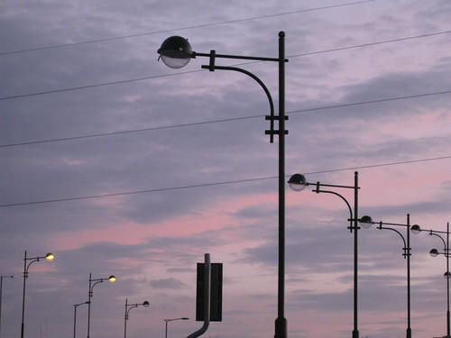 bridge sunset sky lights l lamps peterborough lampposts mygearandme mygearandmepremium