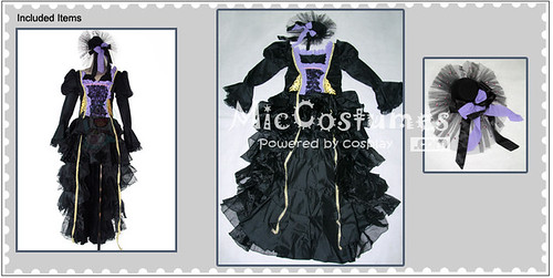 Vocaloid the Sandplay Singing of the Dragon Miku Cosplay Costume_1