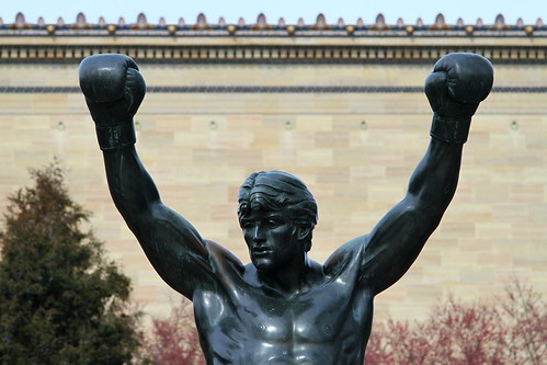 Detail of the Rocky Statue (1980) by A.Thomas Schomberg