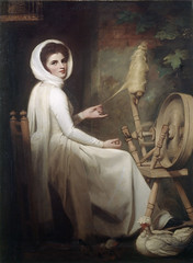 Painting: Romney, Emma Hart as The Spinstress