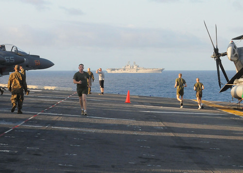 Physical Training on board USS Essex (lhd2)