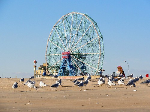 Deno's Wonder Wheel from the Beach